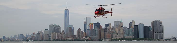 Helikoptertur över Manhattan i New York