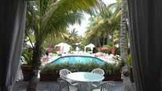 Pool på hotell i Miami