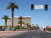 Kör hyrbil in i Las Vegas