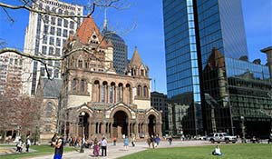 Cykla runt i Boston USA - Copley-Square