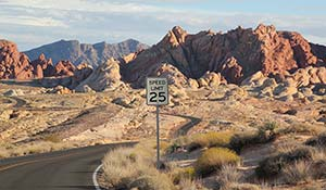 Roadtrip i Valley of Fire USA