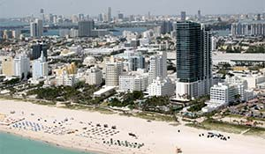Turistparadiset Miami beach i USA